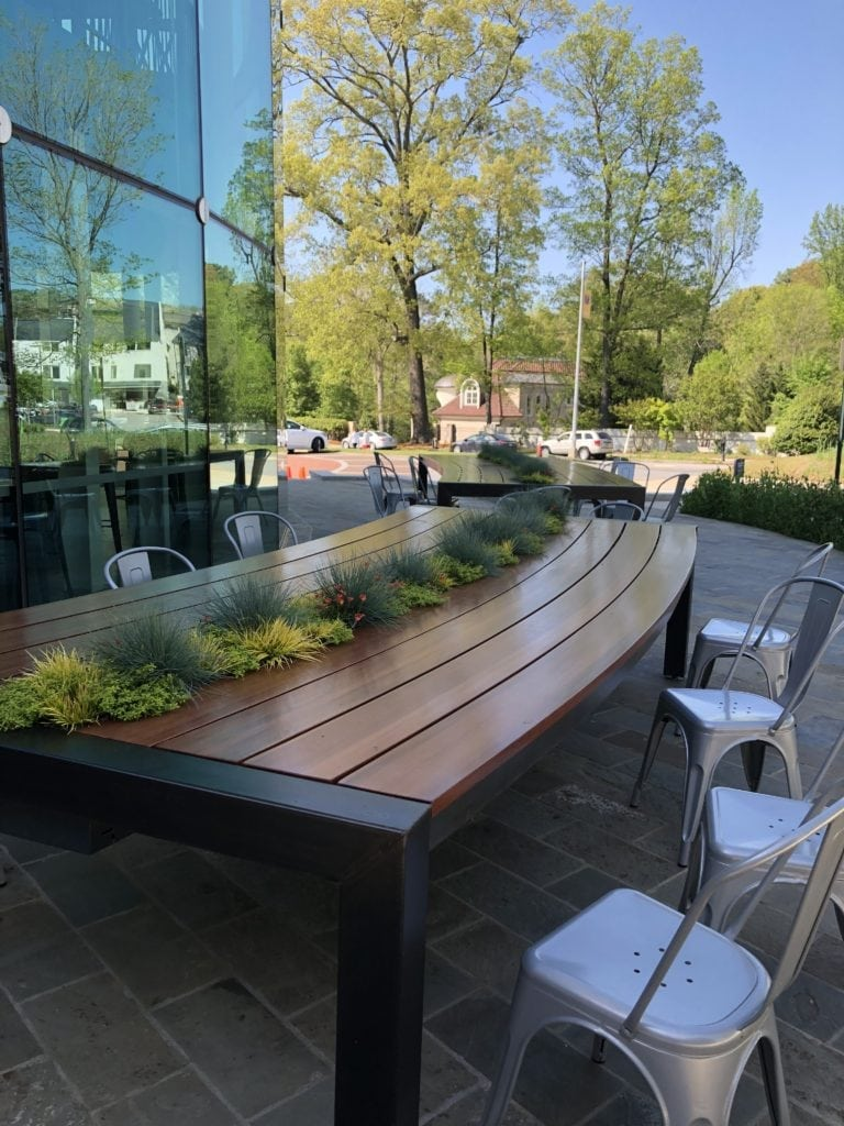 Nature Table Integral Design Consultant Lorell Frysh of Buckhead, Atlanta, GA